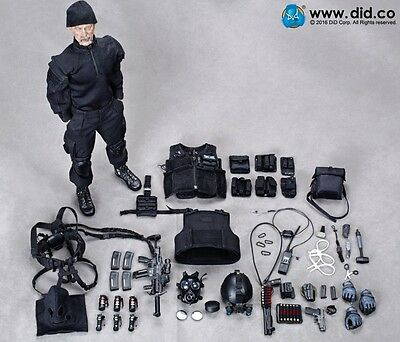 """1/6th DID British Special Air Service SAS Black Ops Team 12"""" Figure & Suits Set"""