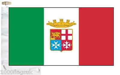 Italy Navy Ensign Courtesy Boat Flag (Roped & Toggled)