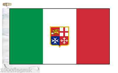 Italy Civil Ensign Courtesy Boat Flag (Roped & Toggled)