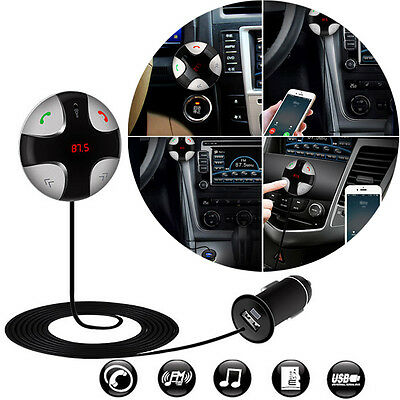 Bluetooth Car Kit Wireless FM Transmitter USB Charger Audio MP3 Player for Phone