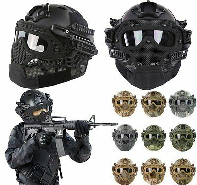 Airsoft Paintball Tactical Fast Helmet Mask Goggles G4 System Protective Gear