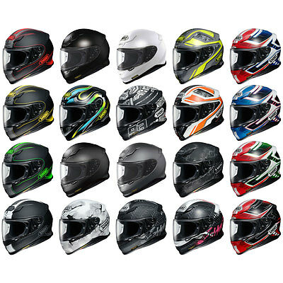 Shoei NXR Full Face Sports Track Race Motorcycle Helmet | All Colours & Sizes