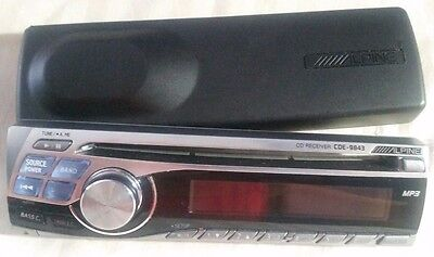 Alpine CDE-9843 STEREO FACEPLATE ONLY & CASE