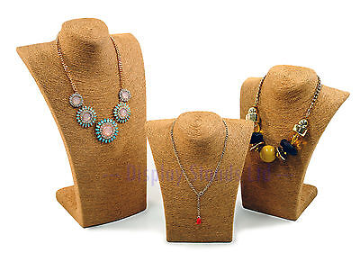 Natural Fibre Necklace Bust Displays for Jewellery (G713-5)