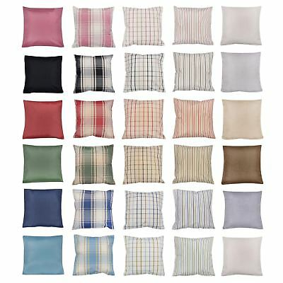 Assorted Cushion Cover Check Pattern Plain Tartan Plaid Scatter 45 x 45cm / 17""