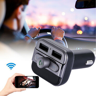 Dual USB Bluetooth Car kit Charger FM Transmitter Handsfree MP3 Player for phone