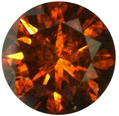 Natural Fine Deep Amber Red Diamond - Round - VS2-SI1 - Africa