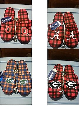 NCAA Football Team Logo Mens Flannel slippers House Shoes - Pick Your Team!