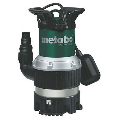 Metabo TPS 14000SCOMBI Submersible Dirty Water Pump + Float Switch 14000 l/hr
