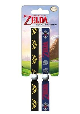 The Legend Of Zelda Pack Of 2 Fabric Festival Wristbands BY PYRAMID FWR68072