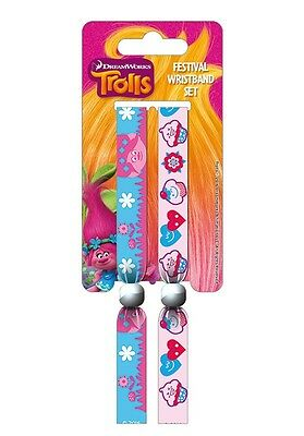 Trolls Pack Of 2 Fabric Festival Wristbands BY PYRAMID FWR68070