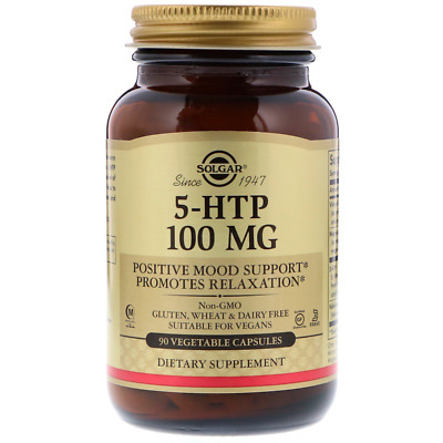 New Solgar 5-Htp Positive Mood Support Relaxation Brain Supplement Daily Healthy
