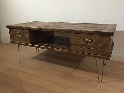 Reclaimed Solid Wood Tv Stand Rustic Wooden Cabinet Media