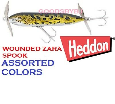 Heddon Wounded Zara Spook, New, Choice Of Colors