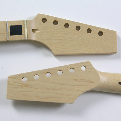 Half Paddle Maple/Maple 22 Fret Block Inlay Guitar Neck NK5