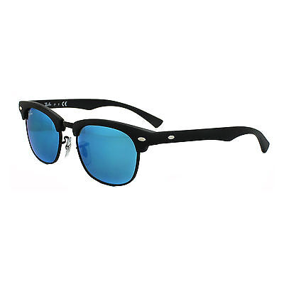 Ray-Ban Junior Occhiali da sole 9050 100S55 Nero Blu Flash Specchio