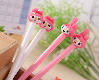 2 x Cute Bunny fine pen point Party Cute Kids novelty stationery Kawaii Pink
