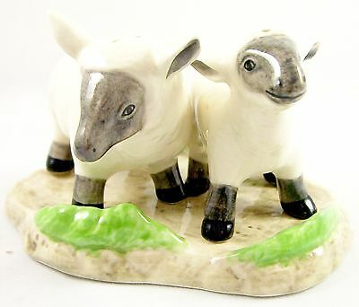 Pair of Sheep - Lambs on Base Ceramic Salt & Pepper Shakers