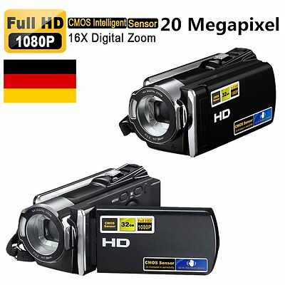 "1080P Hd Camcorder Digital Videokamera 2.7"" Tft Lcd 16X Zoom Dv Hdmi Camera   &7"