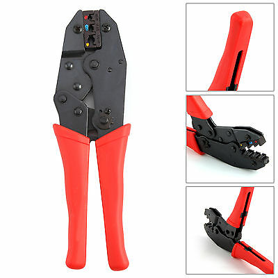 """9"""" Ratchet Crimper Plier Crimping Tool Cable Wire Electrical Terminals 230Mm New"""