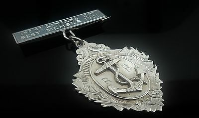 Silver Boys Brigade Medal,1st  St Ninian's Company, Best Member 1901