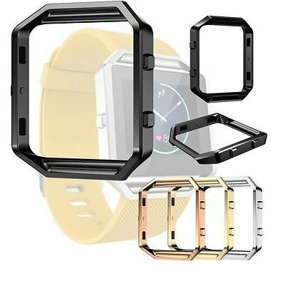 Replacement Stainless Steel Frame Holder Case Cover Shell For Fitbit Blaze Watch