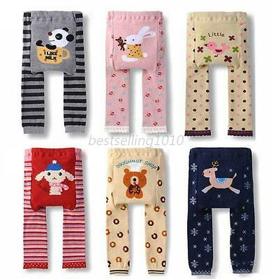 Kids Boys Girls Soft Cotton Legging Toddler Baby Soft Trousers Cartoon PP Pants