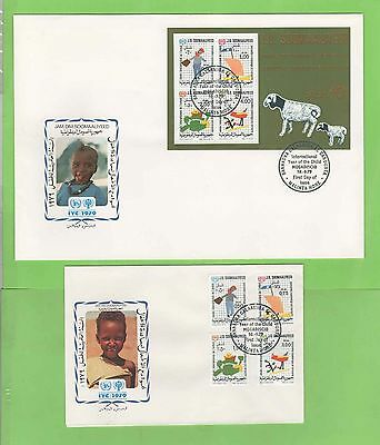Somalia 1979 Two illustrated International Year of the Child First Day Covers