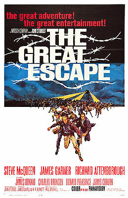 """""""THE GREAT ESCAPE"""".Steve McQueen James Garner Classic Movie Poster A1A2A3A4Sizes"""