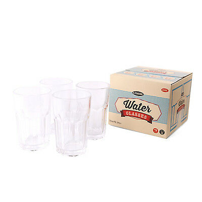 Temerity Jones Set of 4 Tall Highball Water Drinking Glasses Juice Tumbler Glass