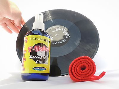 T-Total Alcohol Free Vinyl Record Cleaner Spray & Microfiber Cloths Kit
