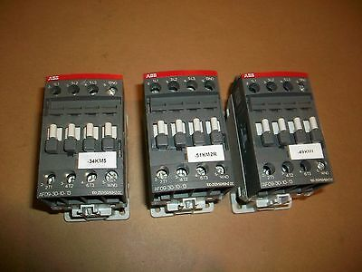 3pc ABB Contactor AF09-30-10-13   100-250V 50-60hz coil