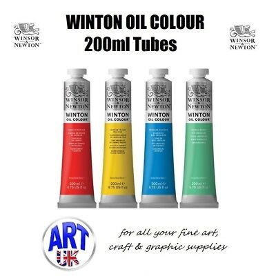 Winsor & Newton WINTON Artists Oil Colour 200ml Paint Tubes student graduate