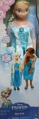 """Disney Frozen MY SIZE ELSA BARBIE DOLL 38""""  OVER 3 FT TALL BIRTHDAY EXPEDITED"""
