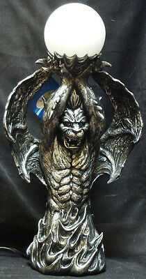ILLUMINATUS  Gargoyle Ball Lamp  Statue H17.9""