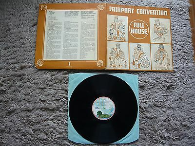 Fairport Convention Full House Pink Rim Vinyl Island Record Texture Gatefold