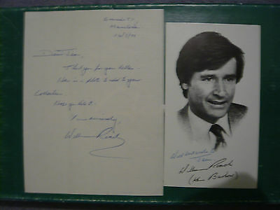 William Roache Ken Barlow Coronation Street Original Signed Letter Autograph