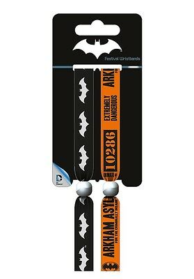 DC COMICS Batman (Dark) Pack Of 2 Fabric Festival Wristbands FWR68073