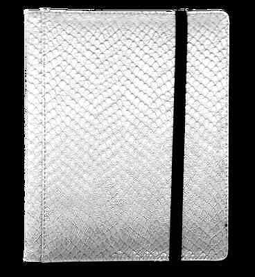 Dragon Hide 12 Pocket (3x4) Binder White LGN BN12DHW