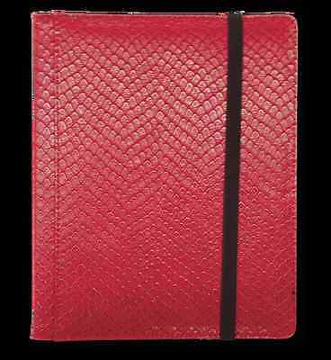 Dragon Hide 12 Pocket (3x4) Binder Red LGN BN12DHR