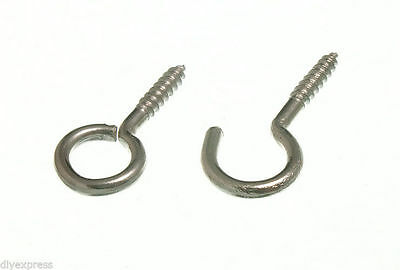 New Lot Of1000 X Curtain Wire Hooks And Eyes 500 Of Each  Bzp