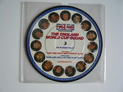 "The England World Cup Squad Football This Time 1982 Picture Disc 7"" Vinyl Single"