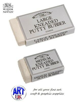 Winsor & Newton Artists Medium/Large SOFT KNEADED ERASER/RUBBER Putty Drawing
