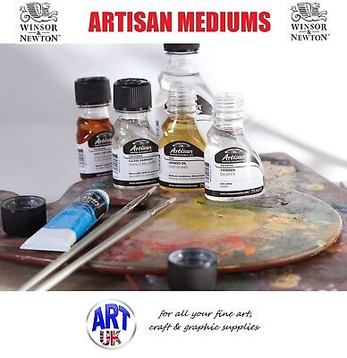 Winsor & Newton ARTISAN WATER MIXABLE OIL COLOUR ADDITIVES painting mediums Fast