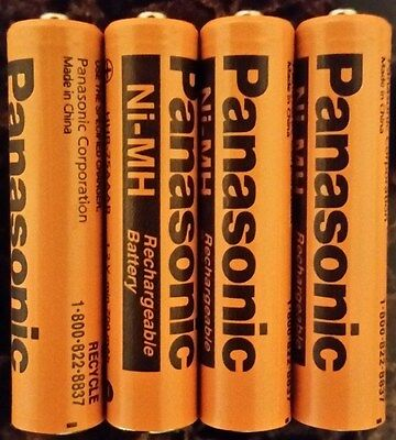 Aaa panasonic  Rechargablr Battery New 4 Pack for Cordless Phones