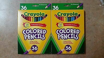 Crayola Coloured Pencils 36   ( 2 pack