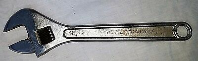 "Vintage Wrench Adjustable 15"" Proto 715 Professional"