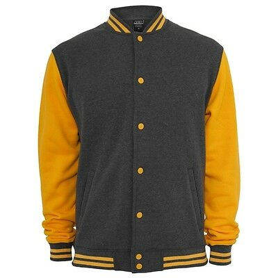 Retro College Jacken Urban Classic in Grau/Orange - Uni Jacke