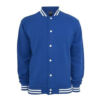 Retro College Jacken Urban Classic in Blau - Uni Jacke
