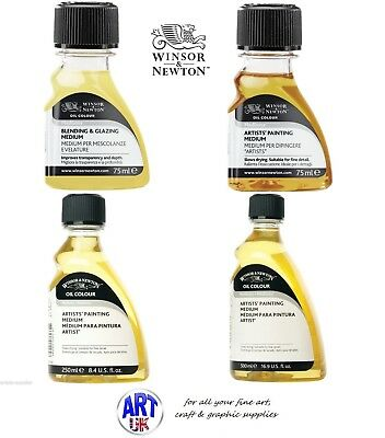 Winsor & Newton Oil Colour MEDIUMS Blending and Glazing, Artists Painting Medium